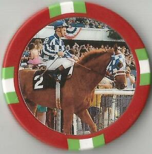 SECRETARIAT 1973 TRIPLE CROWN WINNER HORSE RACING COLLECTOR CHIP