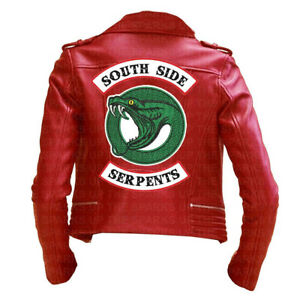 di Giacca ricamo Riverdale in con serpente vendita pelle serpente Southside Migliore r7wYr