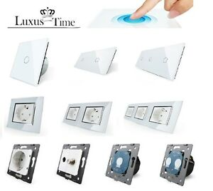 LIVOLO Glas Touch Lichtschalter Funkschalter Steckdosen ...