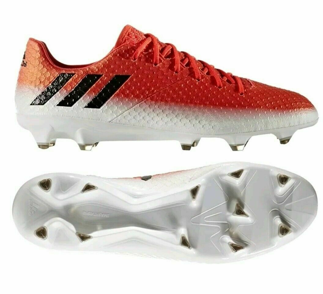 Adidas Messi 16.1 FG Soccer Cleats Red Black White BB1878 Sz 11 13  200 RARE