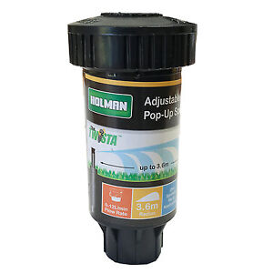 Holman ADJUSTABLE POP UP SPRINKLER 50mm, 3.6m Throw *Aust Brand - 1 Or 6 Pieces