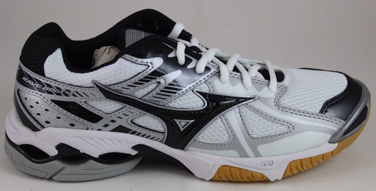 Women's Wave Bolt 4 Indoor Volleyball White Black Silver 430188.0090