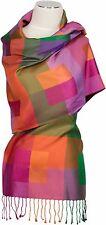 Seidenschal multicolor 100% Seide pure silk soie stole  écharpe foulard 70 x180