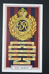 ROYAL-ENGINEERS-1914-18-Great-War-Campaign-Honours-Card-VGC