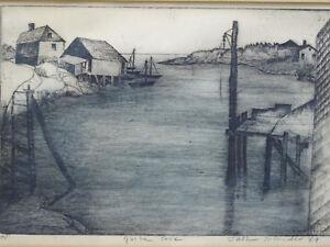 FRAMED SIGNED 1969 JACK BILANDER (1919-2008) ARTIST PROOF ETCHING