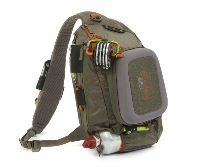 NEW FISHPOND SUMMIT SLING FLY FISHING PACK IN GRAVEL COLOR FREE US SHIPPING