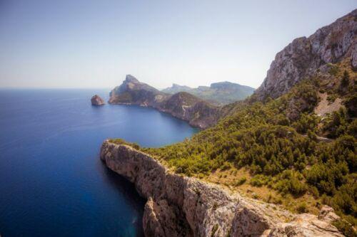 Mallorca Meer Klippen Urlaub y00763 Wand Deko Leinwand Bilder