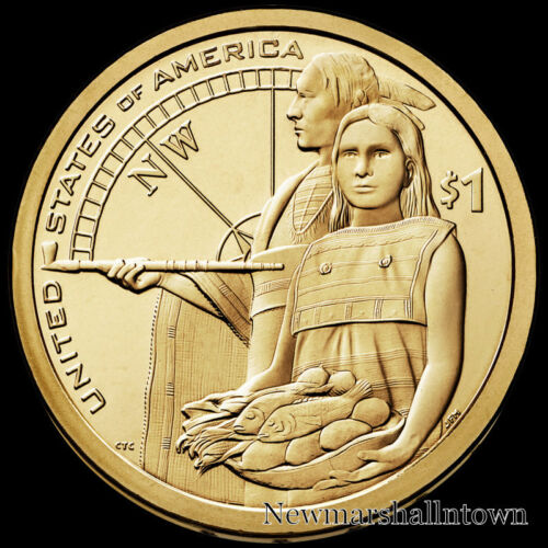 2014 2015 2016 2017 2018 2019 P+D Native American Sacagawea Set from Mint Roll
