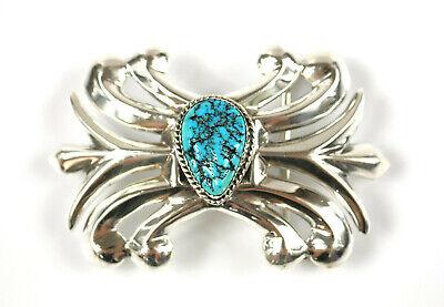Gürtelschnalle - Navajo-indianerschmuck - Nellie Tso - Mit Türkis - Aus Silber In Vielen Stilen