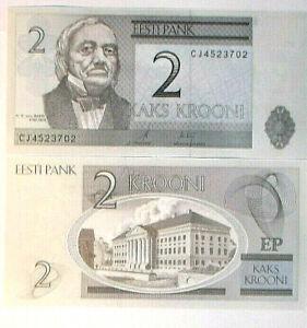 à Condition De 2007. Estonia. Interesantísimo Billete De 2 Krooni. Sin Circular. Pick New Mode Attrayante