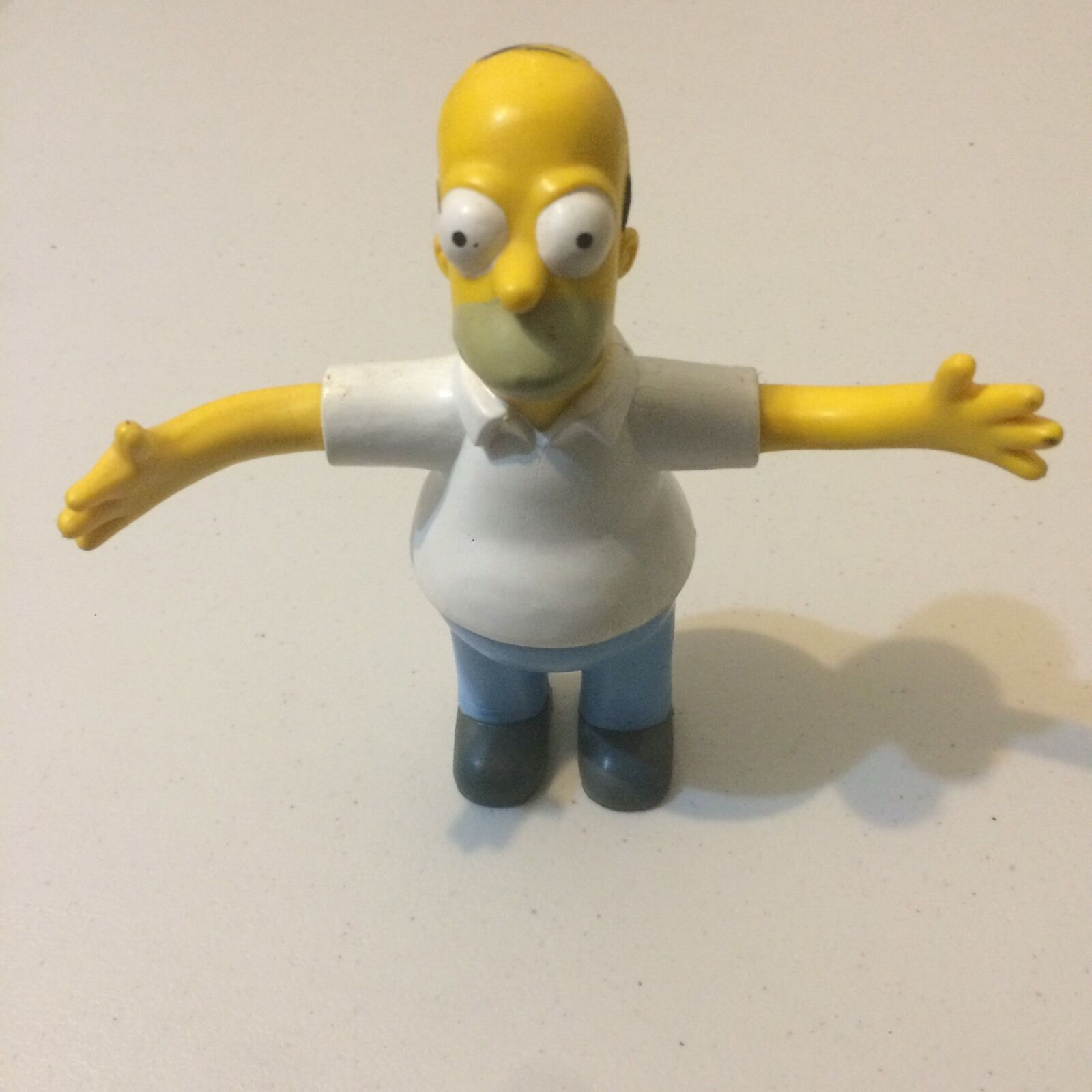 Homer Simpson - 1990 Rare Rare Rare Hard Rubber Doll - 16cms The Simpsons a1ff58