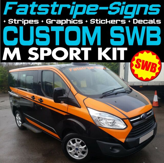 Ford transit custom swb m sport graphics stickers decals stripes m sport van