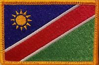Namibia Flag Military Patch With Velcro® Brand Fastener Gold Border 1