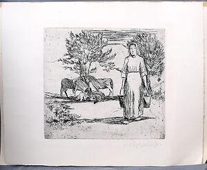 Acquaforte-artisti-grafica-contadinella-Walter-Julius-Kupper-1905-66-Amburgo