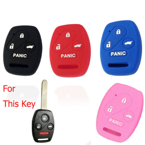 4 Button Silicone Car Key Cover Case For ACCORD CIVIC CR-V Remote Fob Protector