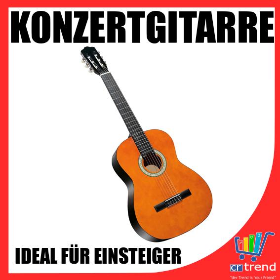 Konzertgitarre 6 teiliges Set, Ideal für Einsteiger inkusive Clip Tuner & Tasche