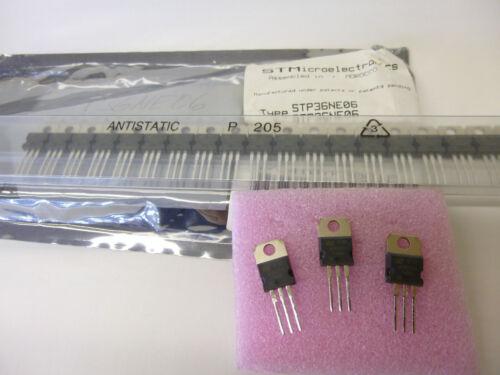 MOSFET 60V  0.032Ohm 36A 100W TO-220 IRFZ34N 5 Stück 5 piece STP36NE06  N