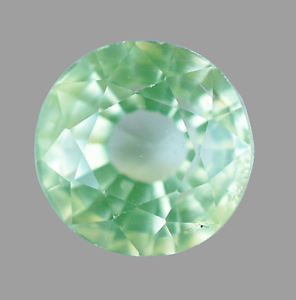 Natural Green Apple Peridot Round 6.25 Ct Top Quality Certified Gemstone