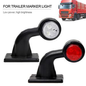 2 X 12 Led Smd Mini Side Rubber Marker Lights Lamp Trailer Truck 12v Outline