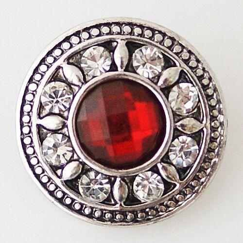 kompatibel Chunk Armband Button Click Druckknopf 7073 Siam Rot