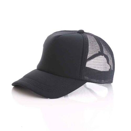 New Vintage Plain Trucker Mesh Hat Snapback Blank Baseball Cap Adjustable Hat.~