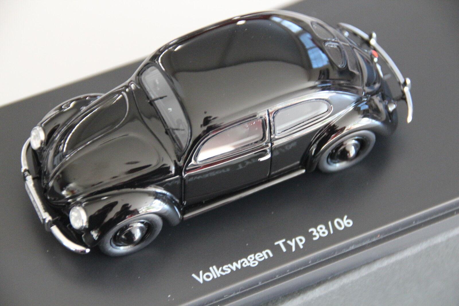 VW Käfer Brezel Brezelkäfer Typ 38 06 Schuco Pro.R Modellauto schwarz 1 43 NEU  | Neuheit Spielzeug