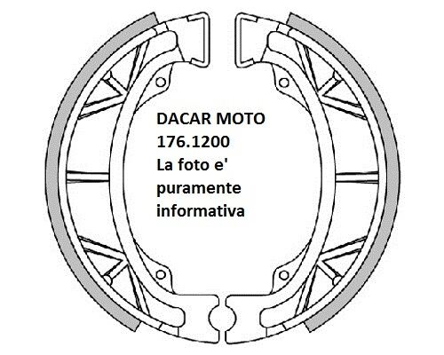 176.1200 Zapatas Del Freno D.110x25 con Muelles Polini Malaguti Centro 50 Sl - F