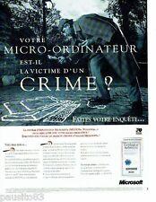 PUBLICITE ADVERTISING 116  1994  Microsoft  le micro-ordinateur