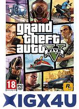 UK Grand Theft Auto V 5 PC Key / GTA 5 V PC Key Digital Download Code EU NEW