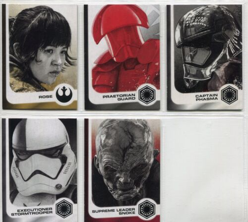 Star Wars Journey To The Last Jedi Complete Illustrated Chase Card Set #1-14