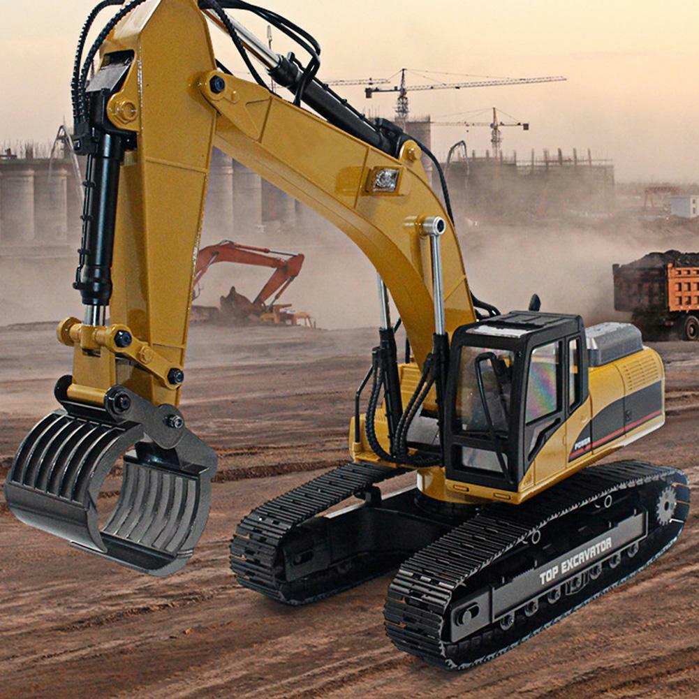 HUINA 1580 1 14 23CH Electric Full Metal Excavator 3 in 1 RC Engineering Vehicle
