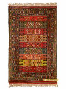 Khorasan-Kurdish-Sumak-Kilim-Rug-187x118cm