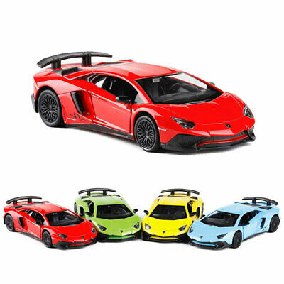 1:36 Lamborghini Aventador LP750-4 SV Car Model Alloy Diecast Toy Vehicle Blue