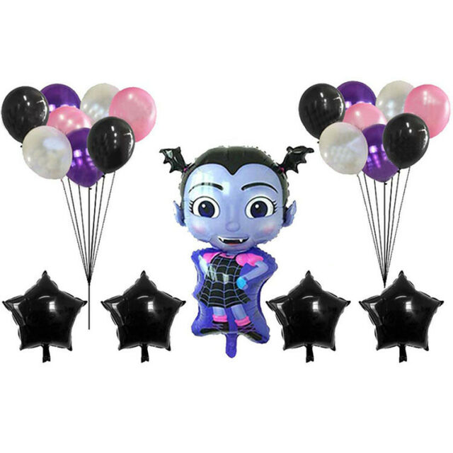 45PCS Vampirina Girls Birthday Party Supplies Foil Balloon Halloween Decoration
