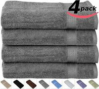 Cotton-hand-towels Gym-towels Spa-towels Grey 4-pack - (16 X 28 Inches) Ringspun on Sale