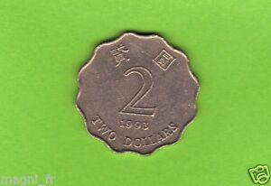 Hong Kong - 2 Dollar - 1993 ( Réf. 64 )