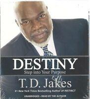 Destiny Step Into Your Purpose T.d. Jakes Audio Sealed Unabridged Christian