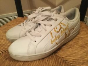 Baby Phat White and Gold Jersey Lo