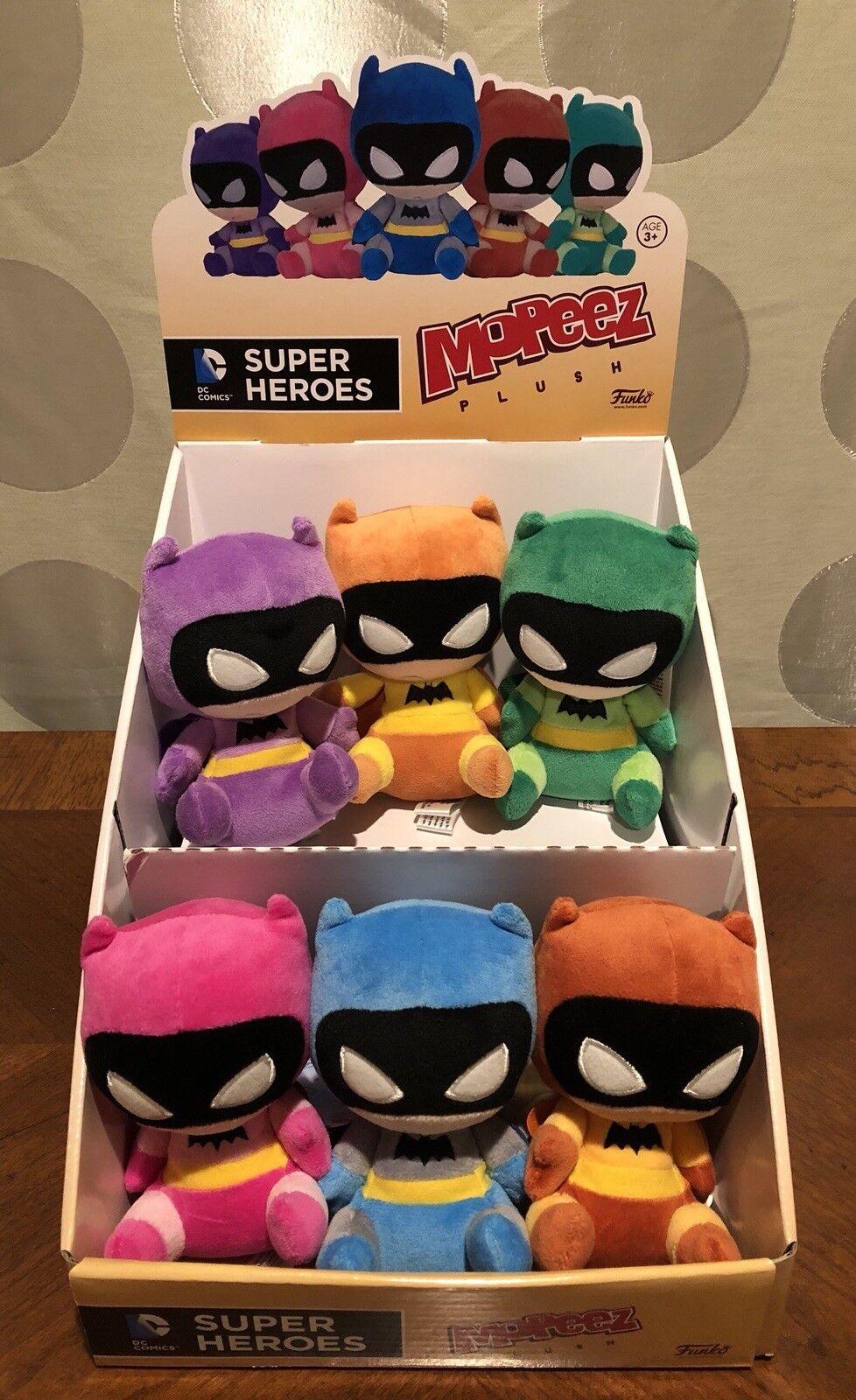 Funko Mopeez Plush - Super Heroes Rainbow Batman 75th Anniversary (Set of 6)