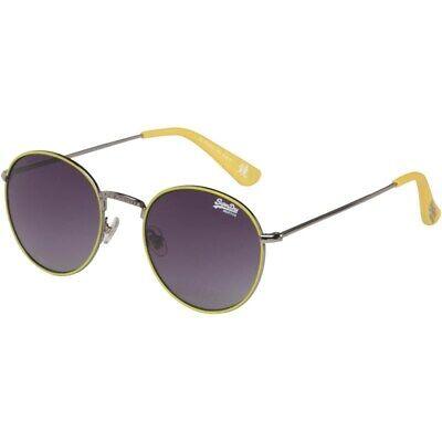Superdry SDS Kobe 104 Men/'s Women/'s Black Rectangular Sunglasses
