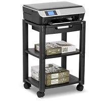 Rolling Office Cart Machine Printer Stand Organizer Supplies Storage Trolley Fax