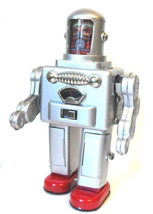 TR2052 Astronauta Spaceman Robot giocattolo di latta pile retrò Robot dello stag