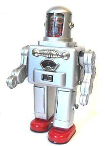 Tr2052 Astronaute Spaceman Robot Jouet À Piles Retro Étain