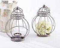10 Vintage Bird Cage Metal Antique Silver Finish Center Piece Wedding Lanterns on sale
