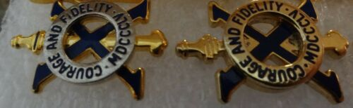 GENUINE U.S ARMY CREST COURAGE AND FIDELITY MDCCC 10TH INFANTRY REGIMENT