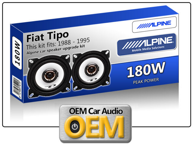 "Fiat Tipo Rear Hatch speakers Alpine 10cm 4"" car speaker kit 180W Max"