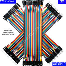 3x 40 Pcs Dupont Wire Jumper Cable 20cm Male To Male Amp Female Arduino Breadboard