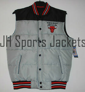 1a42678688c7 Size MD NBA Chicago Bulls Puffer Reversible Vest Black Red by JH ...