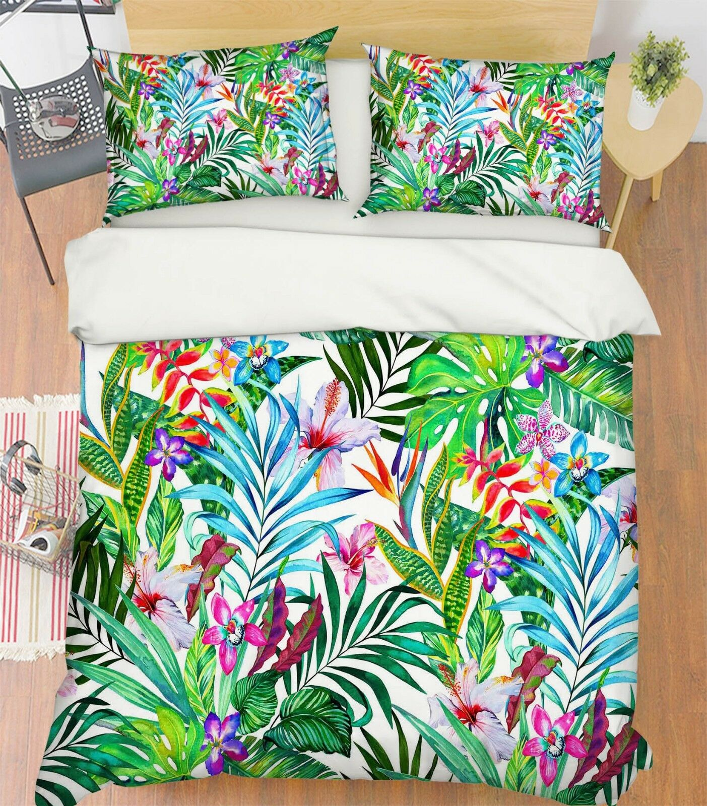 3D Painted Leaves 789 Bed Pillowcases Quilt Duvet Cover Set Single Queen King CA