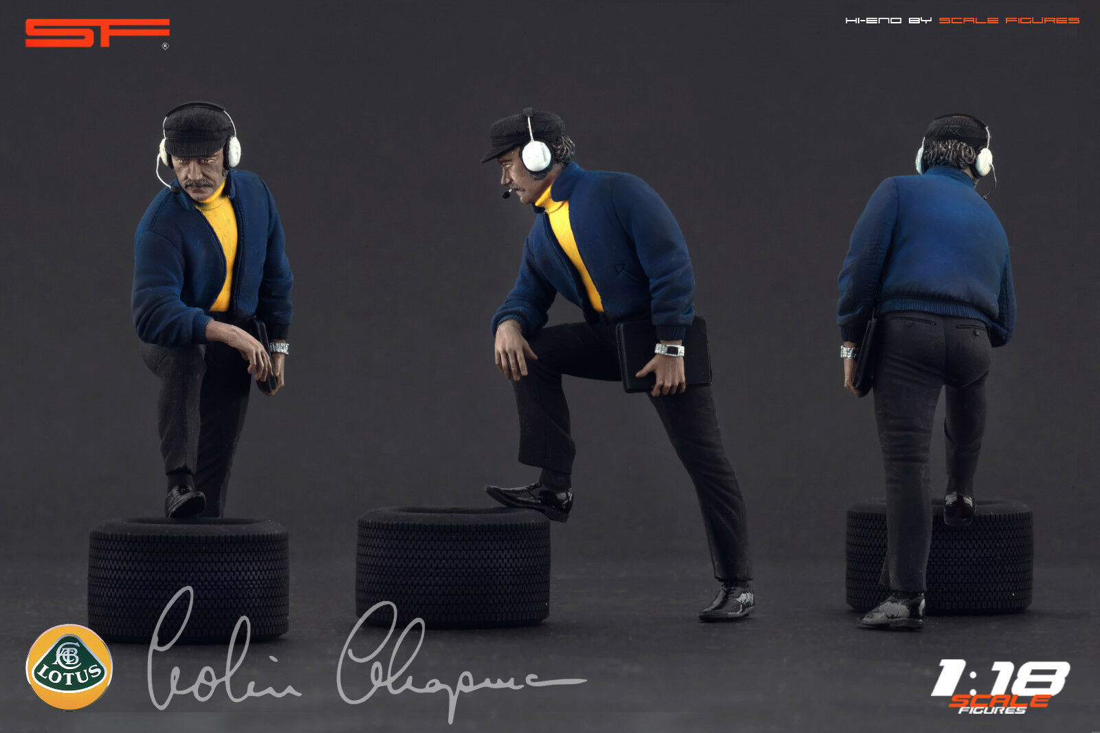 1 18 Colin Chapman VERY RARE    figurine NO CARS    for Lotus collectors